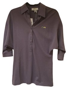 Lacoste Bat Sleeves + Malandrino Polo Shirt Button Down Shirt Purple
