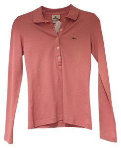Lacoste Polo Shirt Button Down Shirt Pink