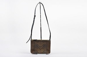 Céline Python Compartment Detachable Trio Clutch Cross Body Bag
