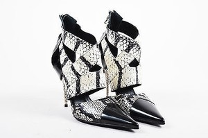 Etro Black And Patent White Pumps