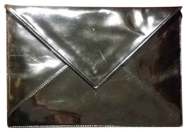 Item - Metallic Silver Faux Leather Clutch