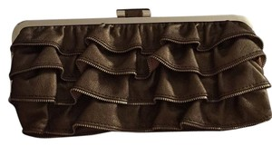 bebe Copper Bronze Silver Clutch