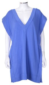 Diane von Furstenberg Blue Swimsuit Cover Up Tunic Dress