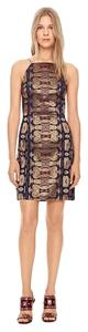 Tory Burch short dress Gold Navy Red on Tradesy