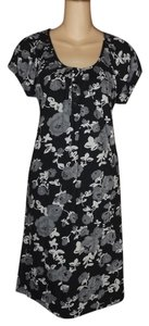 Faded Glory short dress Black And White Floral Summer on Tradesy