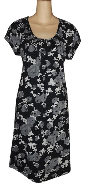 Faded Glory short dress Black And White Floral Summer Short on Tradesy