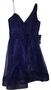 A.B.S. by Allen Schwartz One Shoulder Bow Mini Dress