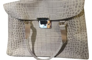 Dooney & Bourke Vintage Croc Style Leather Tote in soft grey