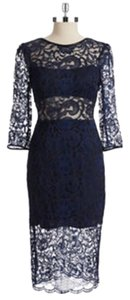 A.B.S. by Allen Schwartz #weddingguest #wedding #cocktail #navybluedress #cutoutdress Dress