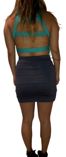 Nasty Gal Top Turquoise/Black