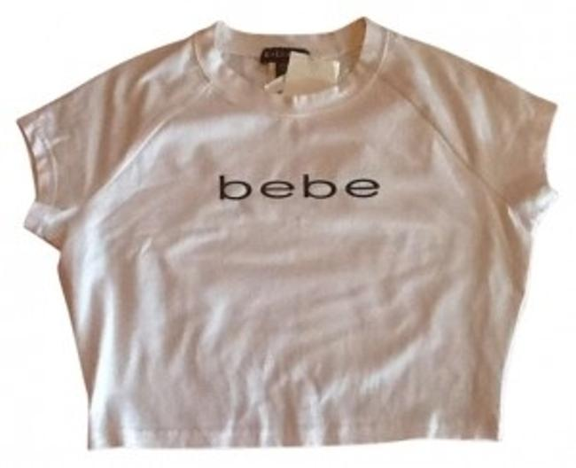 Preload https://img-static.tradesy.com/item/136307/bebe-white-shortie-or-half-class-an-sassy-tee-shirt-size-12-l-0-0-650-650.jpg