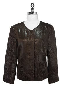 Lafayette 148 New York Crinkle Brown Jacket