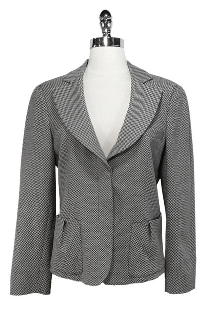 Preload https://item5.tradesy.com/images/emporio-armani-blackwhite-and-wool-blend-blazer-size-12-l-1363129-0-0.jpg?width=400&height=650