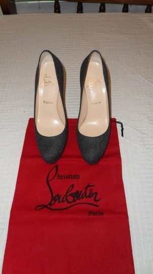 Christian Louboutin Grey Black Pumps