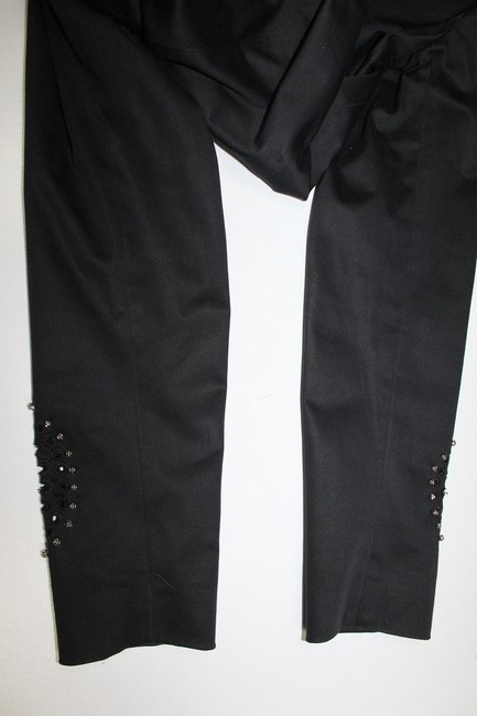 Royal Underground Cutout Studded Embellished Beads With Pockets L Black Blazer