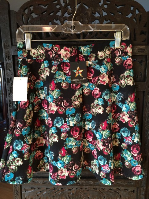 Living Doll Mini Skirt Black Floral