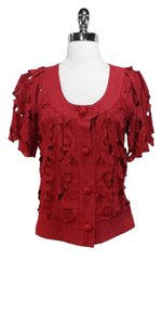 Tracy Reese Cotton Floral Red Jacket