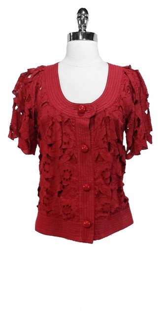 Preload https://img-static.tradesy.com/item/1363199/tracy-reese-red-linen-floral-size-4-s-0-0-650-650.jpg