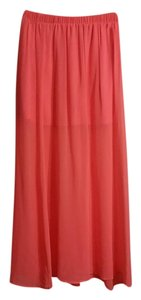 Forever 21 Maxi Skirt neon pink