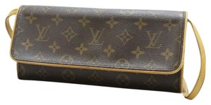 Louis Vuitton Monogram Twin Lv Shoulder Bag