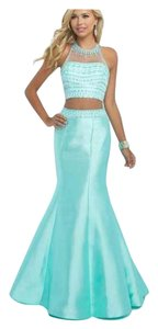 Blush Prom Crop Top Mermaid Dress