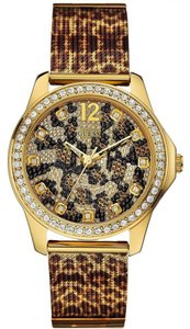 Guess Guess Female Dress Watch U0333L1 Animal Print Analog
