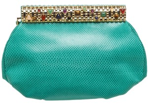 Judith Leiber Green Clutch
