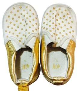 H&M Gold white polka dots Flats