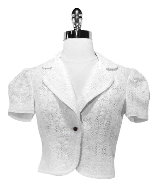 Trina Turk Cotton White Jacket