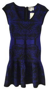 Nicole Miller Intarsia Print Dress