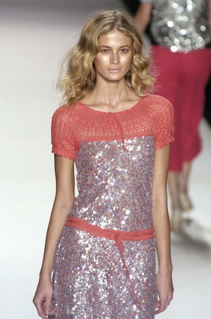 BCBGMAXAZRIA Max Azria Sequin Crochet Runway 2005 Dress