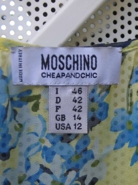 Moschino Top Multi colored yellows and blues