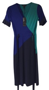 BCBGMAXAZRIA Caitlin Wrap Color Block Dress