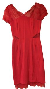 BCBGMAXAZRIA Coctail Red Lace Nel Dress