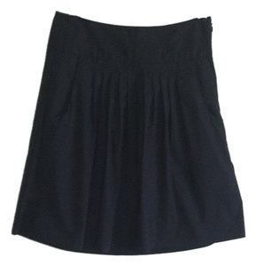 Banana Republic Pleated Mini Skirt Black