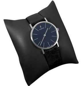Corum Corum Vintage Mens Handwound Dress Watch, Blue Linen Dial - Stainless Steel
