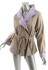 Babette Belted Tan and Lilac Jacket