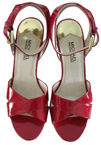 Michael Kors Red Patent Leather Wedges