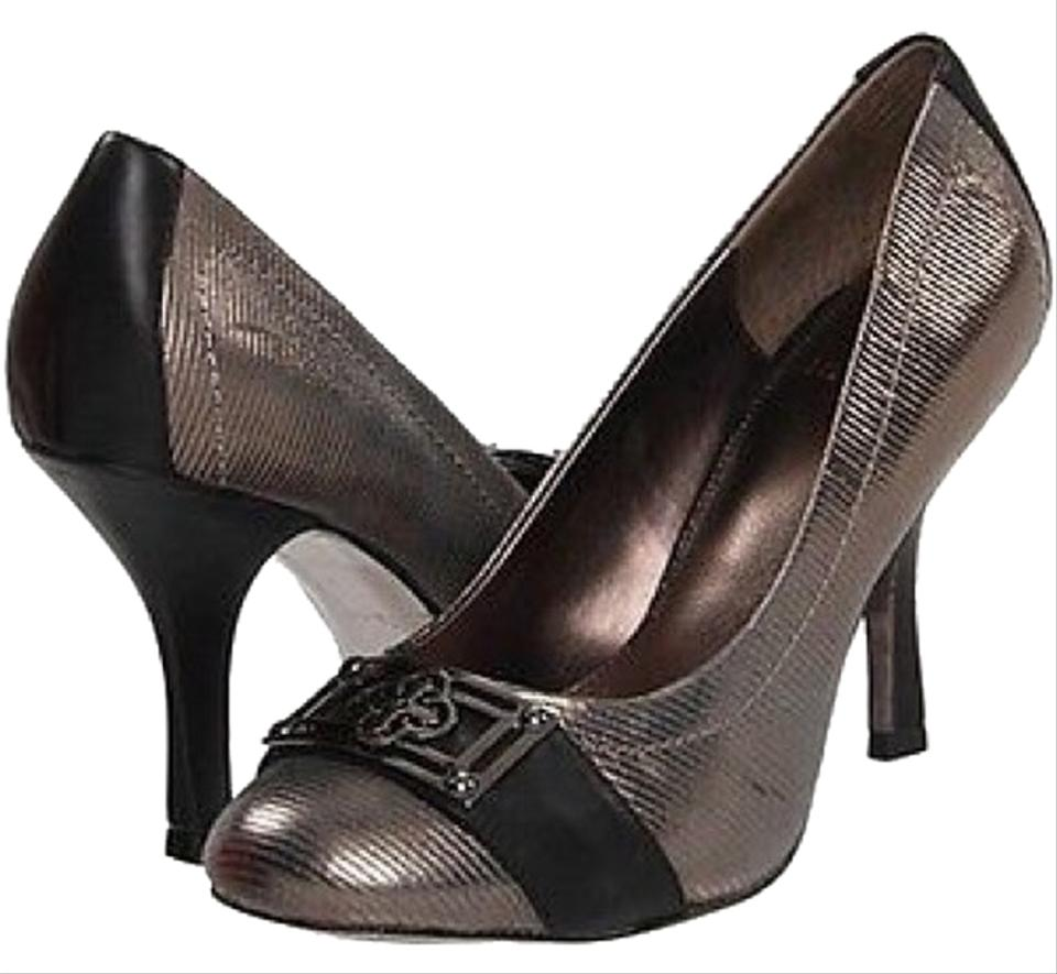 Isola Silver/Black Black Ricci Ii Heels Silver/Black Isola Cintoia Printed Leather Pumps 229dab