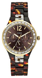 Guess Guess Female Dress Watch U0078L1 Brown Chronograph
