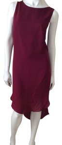 Haute Hippie short dress Maroon on Tradesy