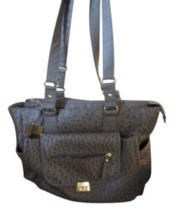 HK by Heidi Klum Ostrich-Gray Diaper Bag