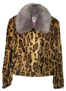 SHRIMPS Faux Fur Alexa Chung Leopard Multicolor Jacket