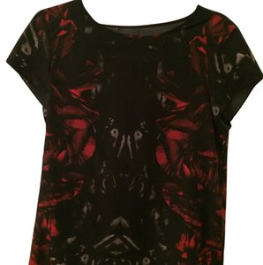 AllSaints Canvas Top Black and red