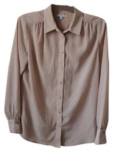 Gap Button Down Shirt Beige