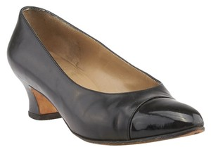 Salvatore Ferragamo Patent Leather Leather Loafers Black Pumps