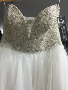 Maggie Sottero Ivory Angelette Wedding Dress Size 12 L
