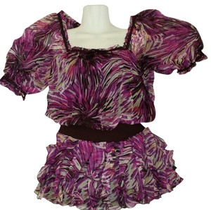 bebe short dress Multi Ruffles Sheer Drop Waist on Tradesy