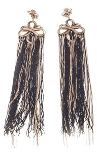 Chanel Chanel Women's 2010 Autumn Collection Chain & String Tassel Clip On Earrings(19685)