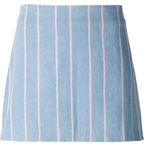 T by Alexander Wang A Line Mini Mini Skirt BLUE